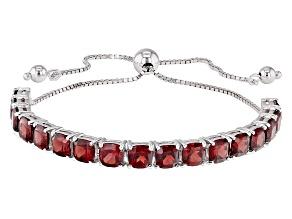 Red Garnet Sterling Silver Bolo Bracelet 10.38ctw