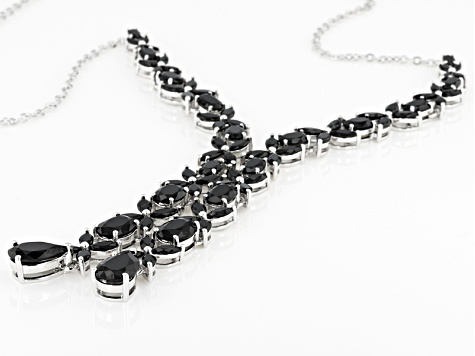 Black Spinel Sterling Silver Necklace 31.18ctw