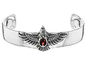 Red Garnet Sterling Silver Bracelet 1 54ctw
