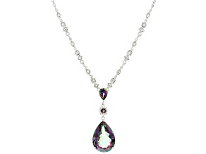 Green Mystic Topaz® Sterling Silver Necklace 12.68ctw