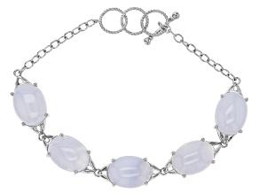Blue Chalcedony Sterling Silver Bracelet