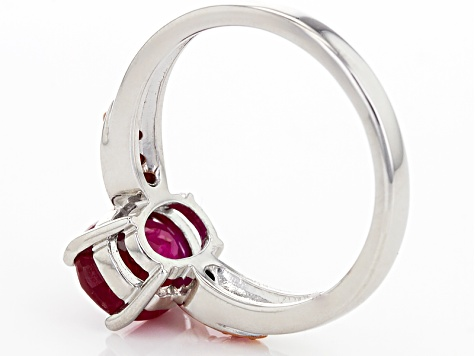 Mahaleo Ruby Sterling Silver Ring 2.47ctw