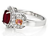 Red Ruby Sterling Silver Ring 2.26ctw