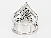 Black Spinel Sterling Silver Ring 1.79ctw