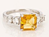 Golden Citrine Sterling Silver Ring 3.13ctw