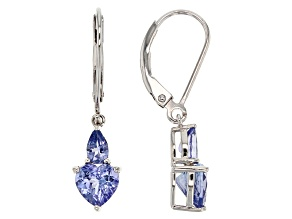 Blue Tanzanite Sterling Silver Earrings 1.59ctw