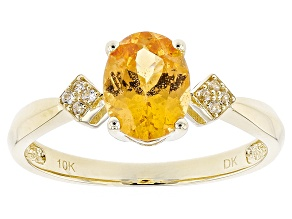 Orange Spessartite 10k Yellow Gold Ring 1.29ctw