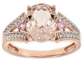 Pink Morganite 10k Rose Gold Ring 2.49ctw