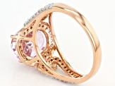 Pink Kunzite 10k Rose Gold Ring 2.97ctw