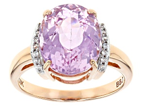 Pink Kunzite 10k Rose Gold Ring 5.43ctw