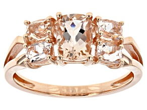 Pink Morganite 10k Rose Gold Ring1.57ctw