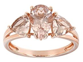 Pink Morganite 10k Rose Gold Ring 2.27ctw
