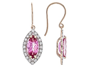 Pure Pink™ Topaz 10k Rose Gold Earring 2.41ctw