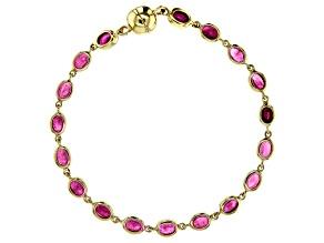 Mahaleo Ruby 10k Yellow Gold Bracelet 7.49ct