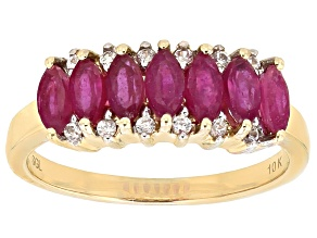 Mahaleo Ruby 10k Yellow Gold Ring 1.14ctw
