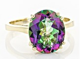 Mystic Topaz® 10k Yellow Gold Ring 5.00ct