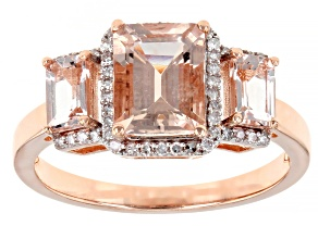 Pink Morganite 10k Rose Gold Ring 1.92ctw