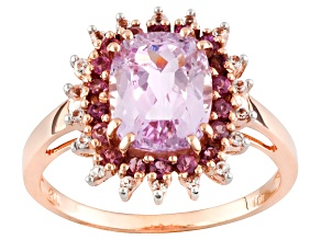 Pink Kunzite 10k Rose Gold Ring 2.80ctw
