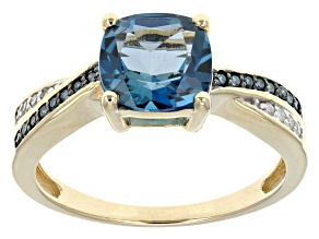 London Blue Topaz 10k Yellow Gold Ring 2.16ctw
