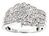 White Diamond Rhodium Over Sterling Silver Ring .30ctw