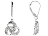 White Diamond Rhodium over Sterling Silver Earrings .35ctw