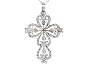 White Diamond Rhodium over Sterling Silver Pendant .50ctw