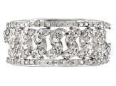 White Diamond Rhodium over Sterling Silver Ring .57ctw