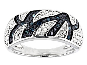 Blue Velvet Diamond™ Rhodium over Sterling Silver Ring .15ctw