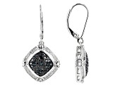 Blue Velvet Diamond™ Rhodium over Sterling Silver Earrings .10ctw