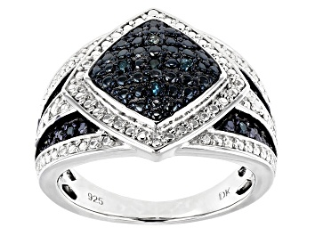 Picture of Blue Velvet Diamond™ Rhodium over Sterling Silver Ring .10ctw