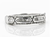 White Diamond Rhodium over Sterling Silver Ring .28ctw