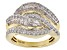 White Diamond 14k Yellow Gold Over Sterling Silver Ring 1.55ctw
