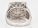 White Diamond Rhodium Over Sterling Silver Ring 1.70ctw