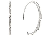 White Diamond Rhodium over Sterling Silver Earrings .58ctw