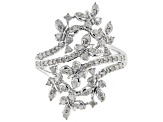 White Diamond Rhodium over Sterling Silver Ring .54ctw