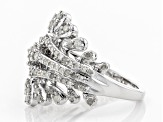 White Diamond Rhodium Over Sterling Silver Ring 0.77ctw