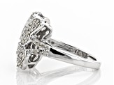 White Diamond Rhodium Over Sterling Silver Ring 0.84ctw