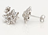 White Diamond Rhodium Over Sterling Silver Earrings 0.50ctw