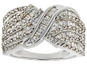 Diamond Rhodium Over Sterling Silver Ring 1.33ctw