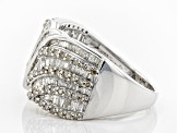 Diamond Rhodium Over Sterling Silver Ring 1.33ctw