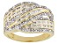 White Diamond 14K Yellow Gold Over Sterling Silver Ring 0.53ctw