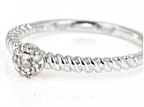 White Diamond Accent Rhodium Over Sterling Silver Ring