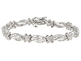 White Diamond Rhodium Over Sterling Silver Bracelet 1.72ctw