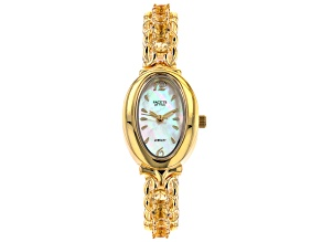 Yellow Citrine 18k Yellow Gold Over Brass Watch 4.67ctw