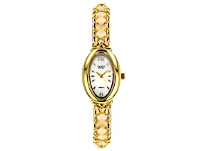 Multi-color Ethiopian Opal 18k Yellow Gold Over Brass Watch 2.21ctw