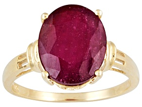 Mahaleo Ruby 10k Yellow Gold Ring