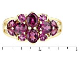 Grape Color Garnet 10k Yellow Gold Ring 2.30ctw