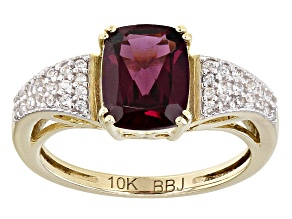 Grape Color Garnet 10k Yellow Gold Ring 2.75ctw