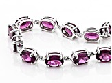 Grape Color Garnet 10k White Gold Bracelet 14.15ctw