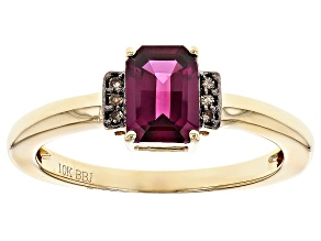 Grape Color Garnet 10k Yellow Gold Ring 1.04ctw